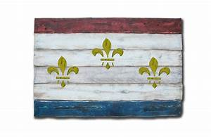 Weathered Wood One of a kind New Orleans flag, Wooden ...