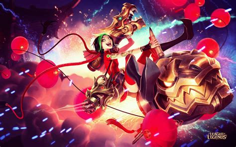 firecracker jinx league  legends wallpapers hd