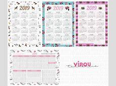 260 Printables para Download calendário, planner de mesa