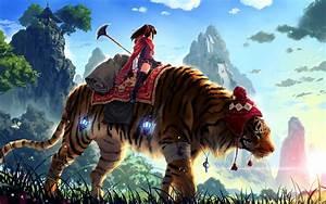 Anime, Fantasy, Art, Tiger, Wallpapers, Hd, Desktop, And, Mobile, Backgrounds