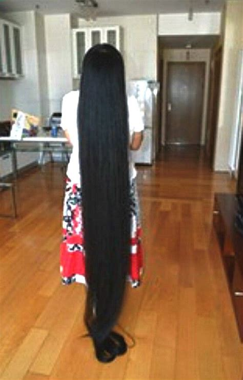 floor length hair rambut panjang long hair styles