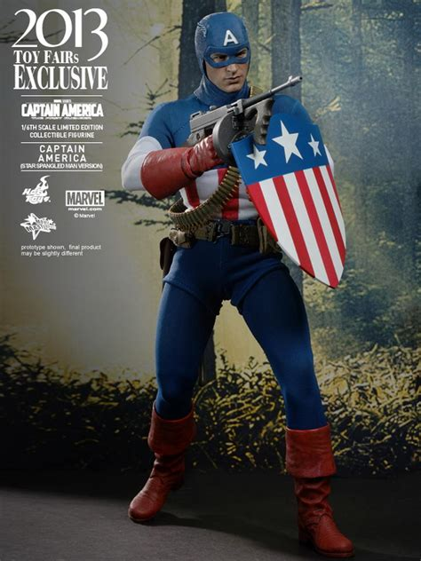 hot toys captain america   avenger  scale