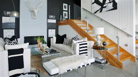 interior design glam high contrast coast home