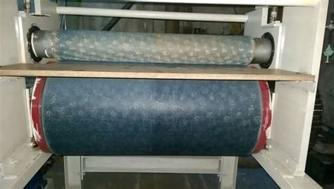 krishna fab tech roll  roll paper embossing machine rs