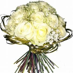 Bouquet Fleurs Blanches : bouquet rond en roses blanches en vente et livraison ~ Premium-room.com Idées de Décoration