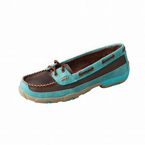 Womenu0026#39;s Twisted X Driving Mocs Brown u0026 Turquoise Boat Shoes | Outfits | Pinterest | Boat shoe ...