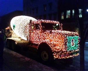 Happy Holidays  U2013 Lighted Cement Truck