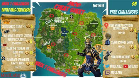 fortnite week 7 challenges mod sheet guide for fortnite battle royale season 5