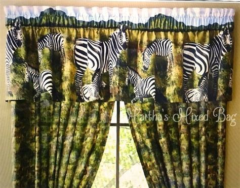 Safari Jungle Zebra Kingdom Animal Print Window Treatment Living Room Storage Furniture Australia Best Interior Design For 2016 Gallery Tables Paint Ideas Philippines Rp Japanese Style Bad Boy Sets Chocolate Chairs