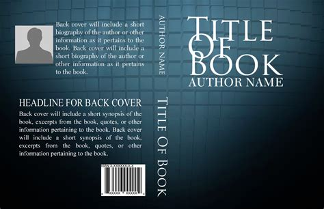 Book Cover Template Basic Book Cover Templates Self Publishing Relief