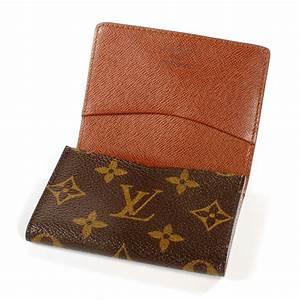Louis vuitton monogram business card holder 40336 for Business card holder louis vuitton