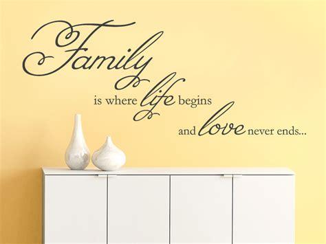 familien sprüche wandtattoo family is where begins wandtattoo de