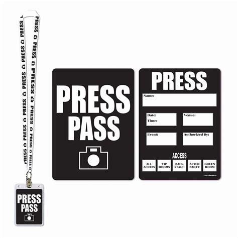 Media Press Pass Template by Printable Press Pass Inspirational Media Press Pass