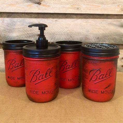 Rustic Bathroom Accessories Sets by Jar Bathroom Set Rustic Jars