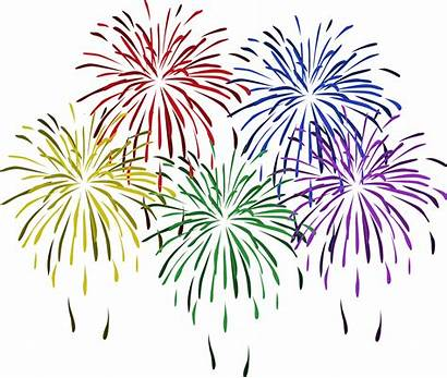 Fireworks Clip Clipart Colorful Firework Years January