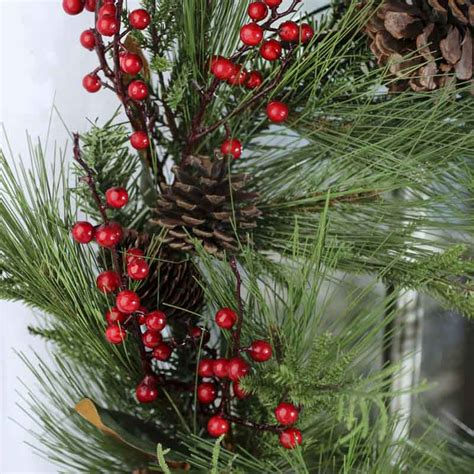 artificial pine and berry wreath craft supplies sale sales