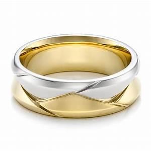 Mens Rings Mens Wedding Bands Two Tone