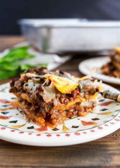 pastelon puerto rican sweet plantain lasagna  noshery