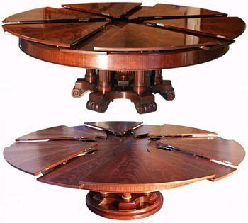 Expandable Round Dining Table Plans   WoodWorking Projects