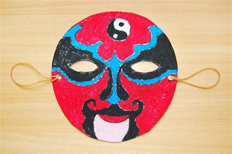 chinese opera mask templates  printable templates