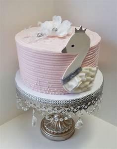 Swan Baby Shower Cake - CakeCentral com