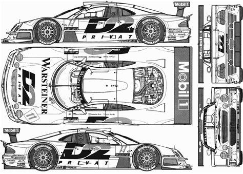 Mercedes Benz Clk Gtr Blueprint Download Free Blueprint