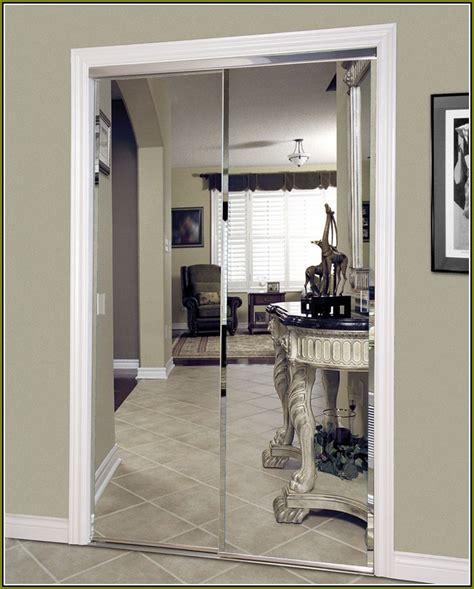 frameless mirror bifold closet doors home design ideas