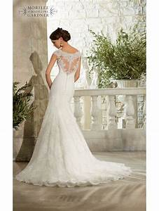 mori lee 5310 beautiful lace wedding dress size 14 on sale With wedding dresses size 14