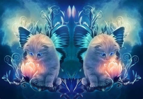 Animal Magic Wallpaper - magic flower cats animals background wallpapers on