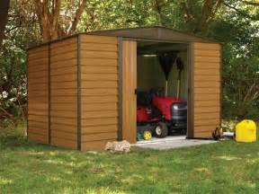 abri de jardin en tole galvanise abri de jardin arrow en acier galvanis 233 4m2 imitation bois