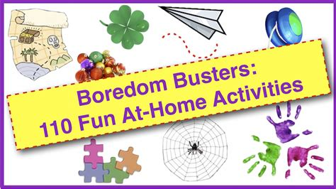 boredom busters  fun  home activities  families