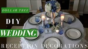 DIY WEDDING CENTERPIECE, Dollar Tree Reception Table