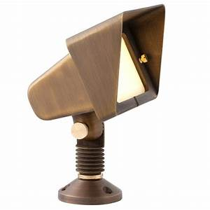 Brightest Exterior Led Flood Lights Second Brightest In Our Series Of Cast Brass Floodlights