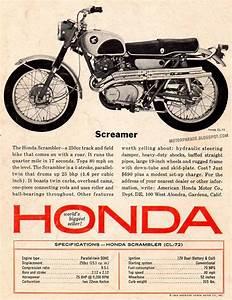 Racing Caf U00e8  Vintage Brochures  Honda Cl