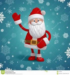 Cute 3d Santa Claus Cartoon Character Stock Image - Image ...