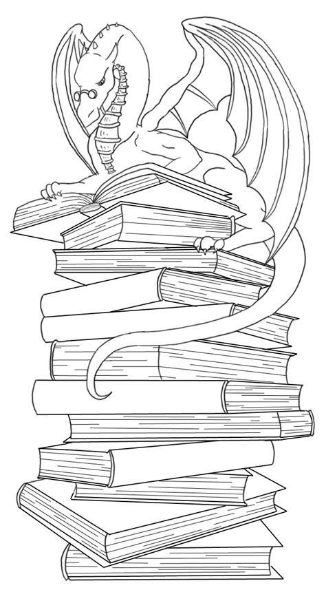 dragon bookmark lineart by Ankaraven on deviantART
