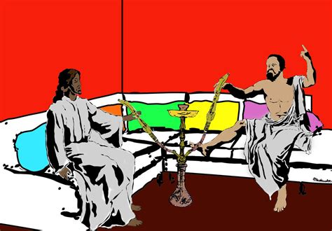 Jesus, Socrates, And Hookah By Lycanspirit On Deviantart
