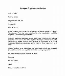 9 sample engagement letters to download sample templates for Legal engagement letter template