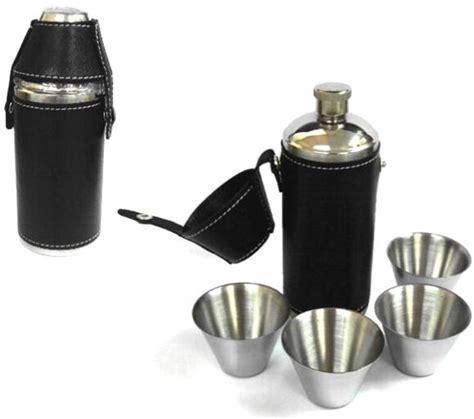 hunting camping flask set   cups stainless hip flasks  drinking liquor sets ebay