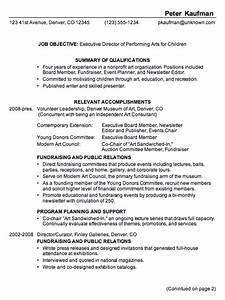 executive director resume sample jennywasherecom With executive director resume
