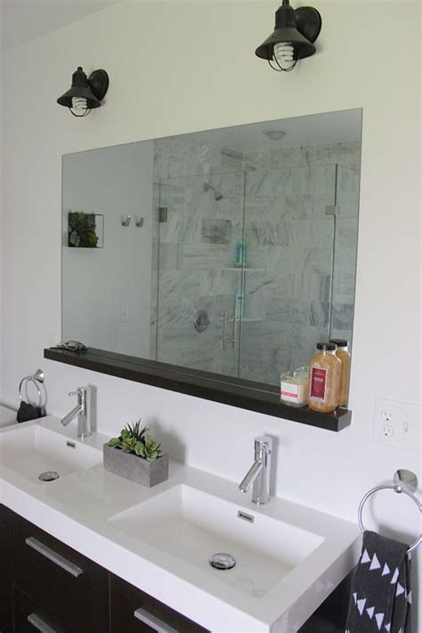 install  bathroom mirror  brackets interno