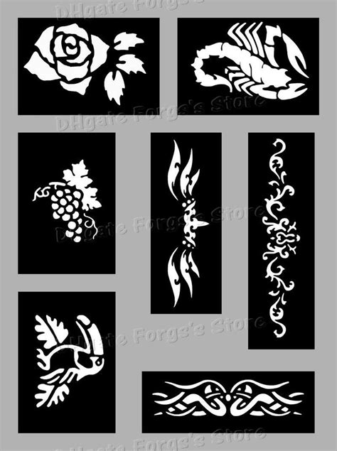 2019 200 Sheets Tattoo Stencils For Body Art Temporary Glitter Tattoo Kit Mixed Designs From