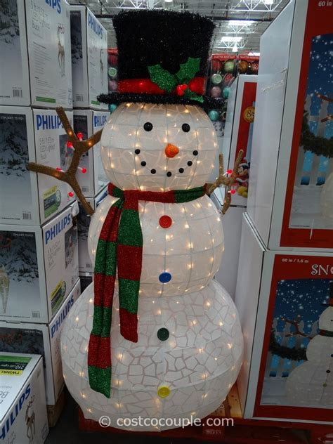 outdoor lighted snowman decorations 60 inch lighted snowman