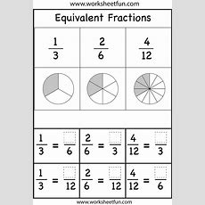 Equivalent Fractions Worksheets  Printable Worksheets  Pinterest  Fractions Worksheets