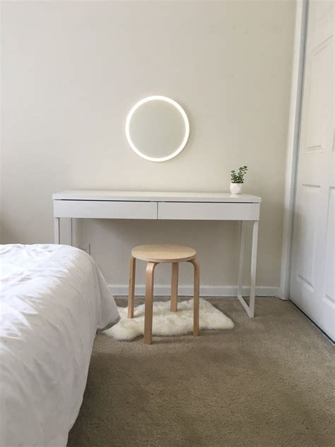 ultra minimalist vanity courtesy  ikea  amazon