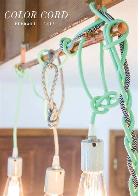 color cord pendant lights tutorial going home to roost