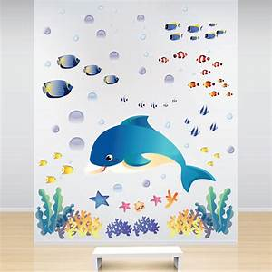 fish decals sea wall stickers under the sea wall murals sea With under the sea wall decals