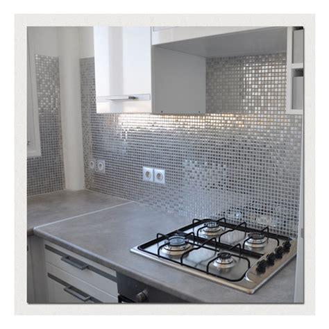 plaque en inox cuisine carrelage metallique plaque de mosaique inox mix polished