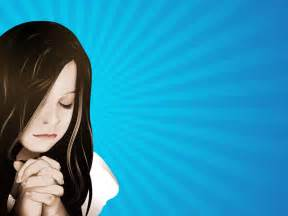 Little Girl Praying Hands Clip Art