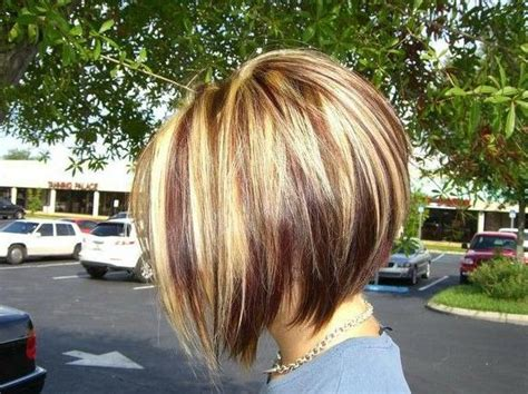 Inverted Bob, Stacked Bob Haircuts And Stacked Bobs Curly Hair Origin Plum Rose Color Halo Hairstyle With Bangs For African American Half Down Prom Hairstyles Brunette On Pinterest By Decades Ideas Growing Out Fringe